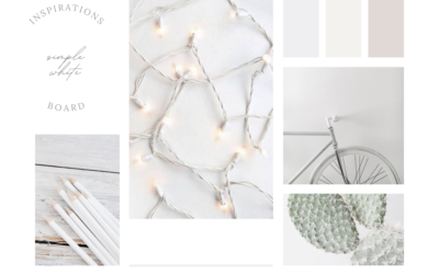 INSPIRATIONS BOARD | SIMPLE WHITE